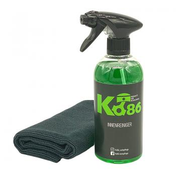 Ko86 Innenreiniger 500ml inkl. High End Microfasertuch Randlos 40x40cm
