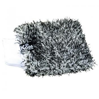 Ko86 Autowaschhandschuh mit Gleitfasern schwarz/weiß