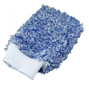 Ko86 Autowaschhandschuh mit Gleitfasern blau/weiß