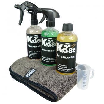 Ko86 Starter-Set Autoshampoo, Felgenreiniger, Innenreiniger