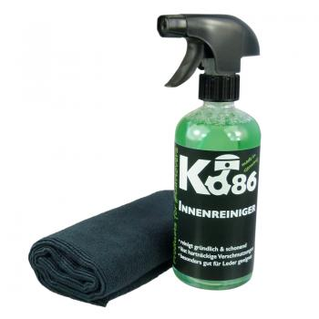 Ko86 Innenreiniger 500ml inkl. High End Microfasertuch Randlos 40x40cm
